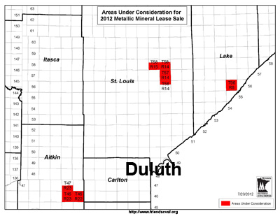 Areas Under Consideration for Leasing in Fall 2012 Mineral Leases